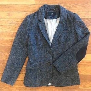 H&M Tweed Blazer w/Elbow Patches